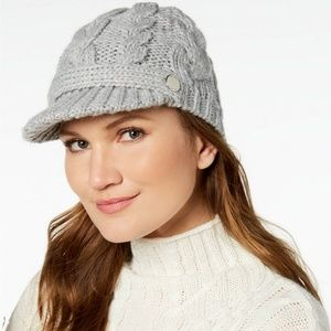 Michael Kors Cable Knit Pointelle Peak Hat